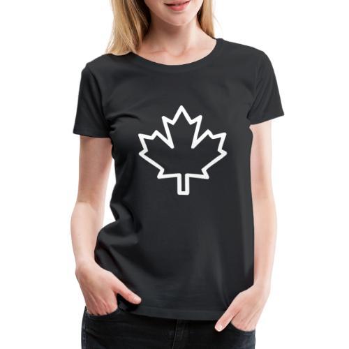 Kanada Silhouette Symbol Ahornblatt Nationalität - Frauen Premium T-Shirt