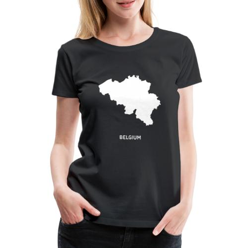 Europa Silhouette Symbol Belgien Land Staat - Frauen Premium T-Shirt