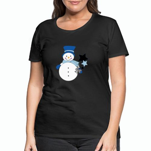 Snowtime-Blue - Frauen Premium T-Shirt