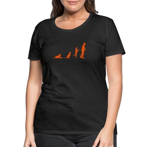 hundemensch vektor orange - Frauen Premium T-Shirt