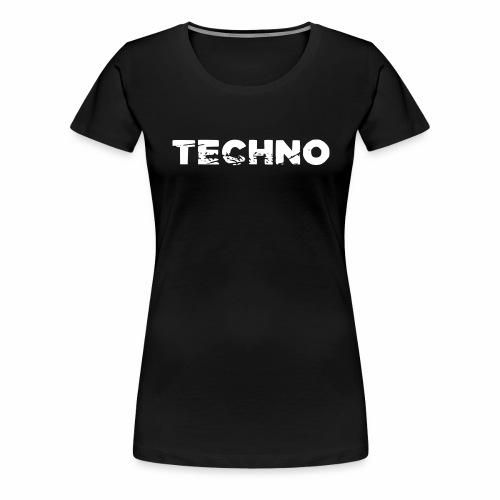 Techno Schriftzug zerkratzt kaputt zerstört - Frauen Premium T-Shirt