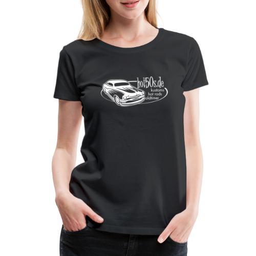 hot50s Logo weiss - Frauen Premium T-Shirt