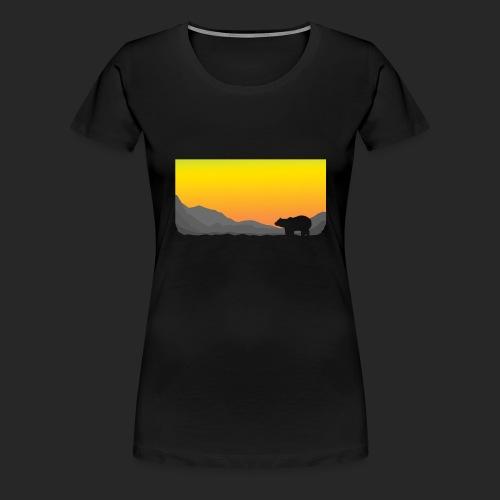 Sunrise Polar Bear - Women's Premium T-Shirt