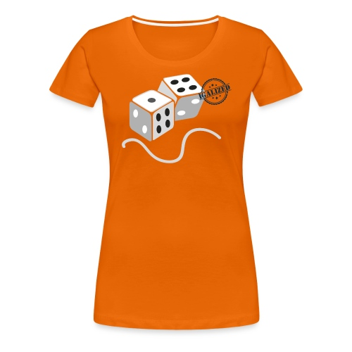Dice - Symbols of Happiness - Women's Premium T-Shirt
