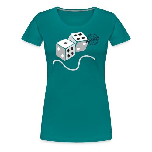 Dice - Symbols of Happiness - Women's Premium T-Shirt