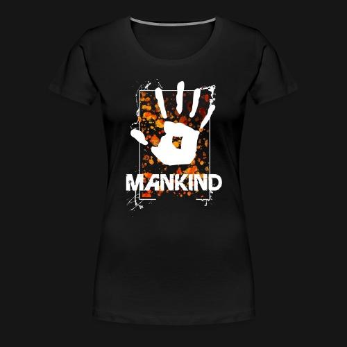 Mankind splatter design hand - Women's Premium T-Shirt