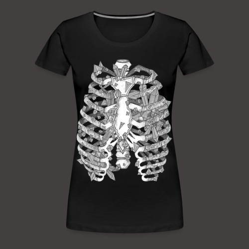 La Cage Thoracique de Cristal - T-shirt Premium Femme