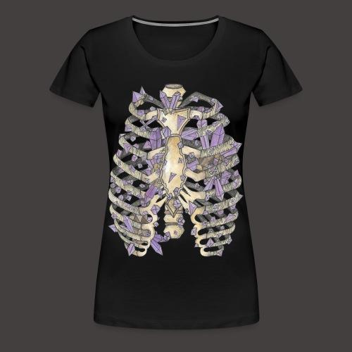 La Cage Thoracique de Cristal couleur - T-shirt Premium Femme