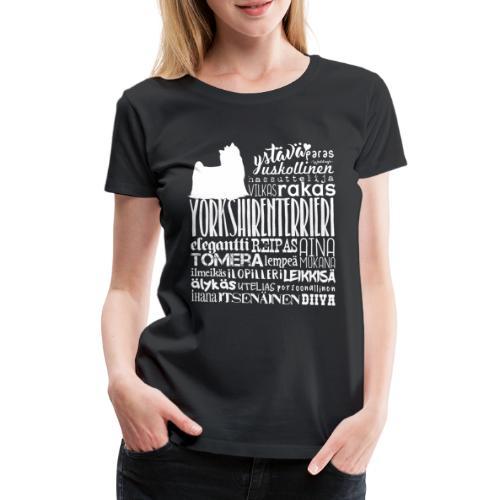 Yorkshirenterrieri Sanat V 2 - Naisten premium t-paita