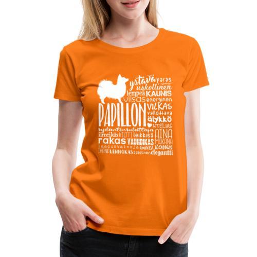 papillonsanat - Naisten premium t-paita