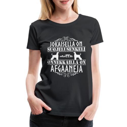 Afgaaninvinttikoira Enkeli 2 - Naisten premium t-paita