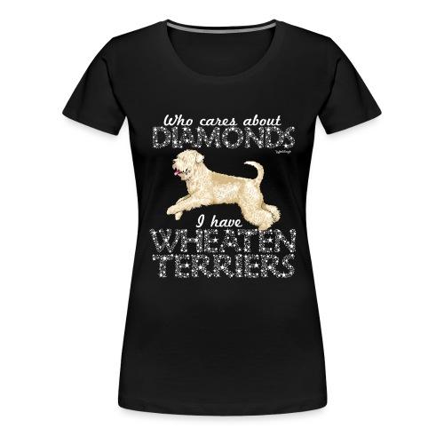 Wheaten Terrier Diamonds - Women's Premium T-Shirt