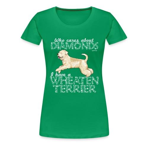 Wheaten Terrier Diamonds 4 - Women's Premium T-Shirt