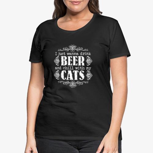 Beer Cats W - Naisten premium t-paita
