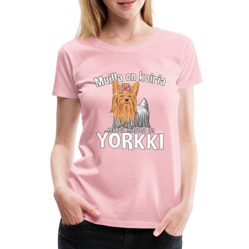 Yorkki Koiria - Naisten premium t-paita