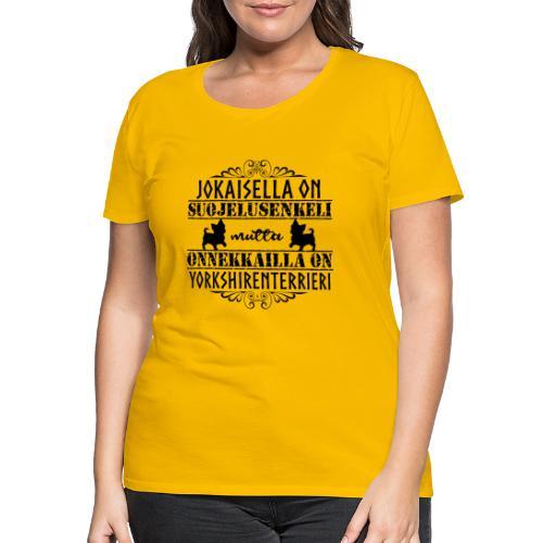 Yorkshirenterrieri Enkeli 5 - Naisten premium t-paita