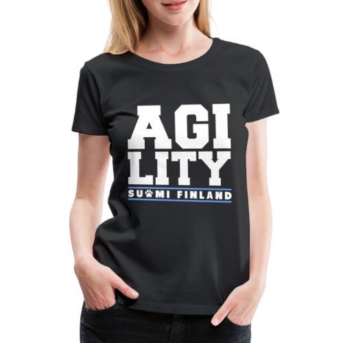 Agility Suomi - Naisten premium t-paita