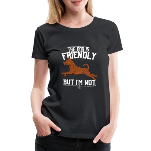pinscherfriendly - Naisten premium t-paita