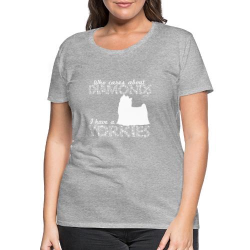 yorkiediamonds2 - Naisten premium t-paita