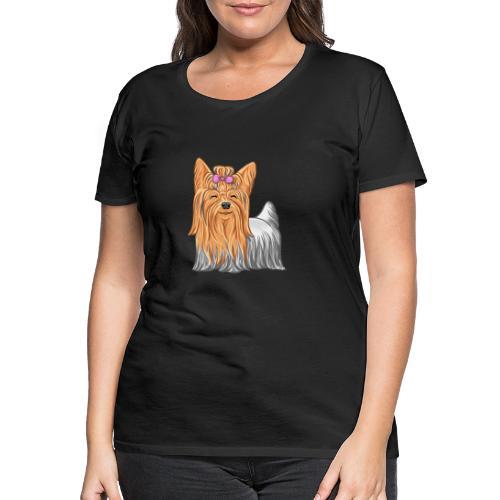 Yorkie - Naisten premium t-paita