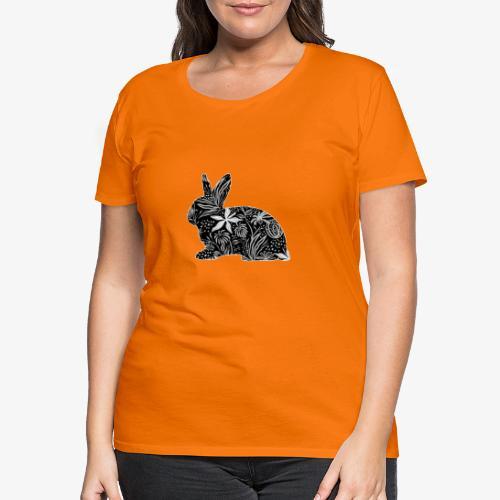 Flower Rabbit - Naisten premium t-paita