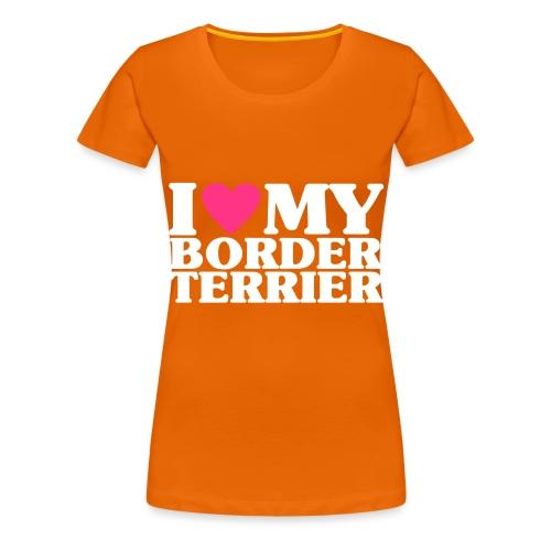 iheartmyborderterrier - Women's Premium T-Shirt