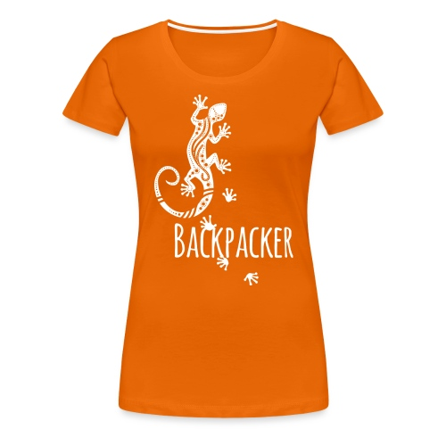 Backpacker - Running Ethno Gecko 2 - Frauen Premium T-Shirt