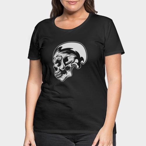 CALAVERA PLATEADA - Camiseta premium mujer