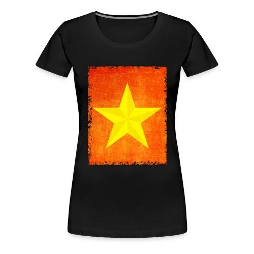 yellow amish barn star t-shirt design gift idea - Maglietta Premium da donna