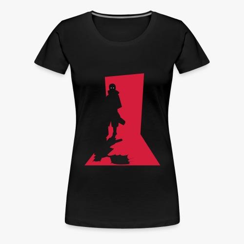 Monster in the Doorway - Dame premium T-shirt