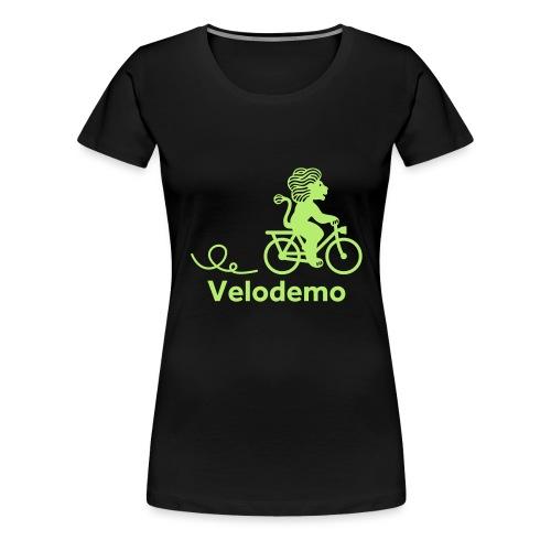 Züri-Leu mit Text - Frauen Premium T-Shirt