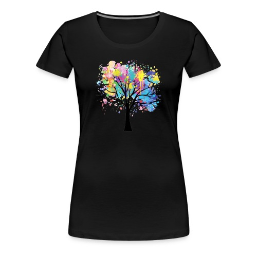 Splash Tree - T-shirt Premium Femme