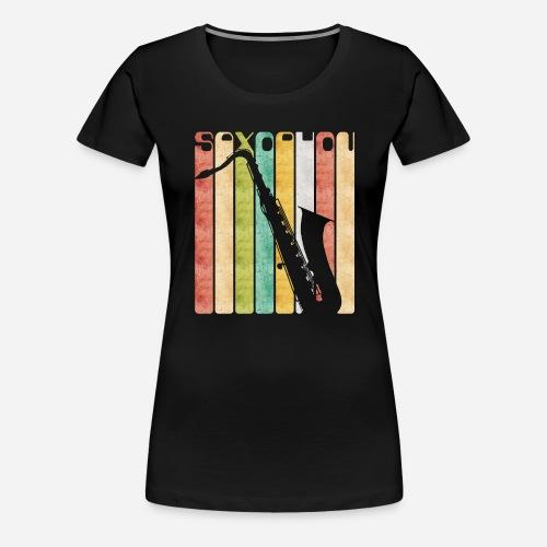Retro Saxophon - Frauen Premium T-Shirt