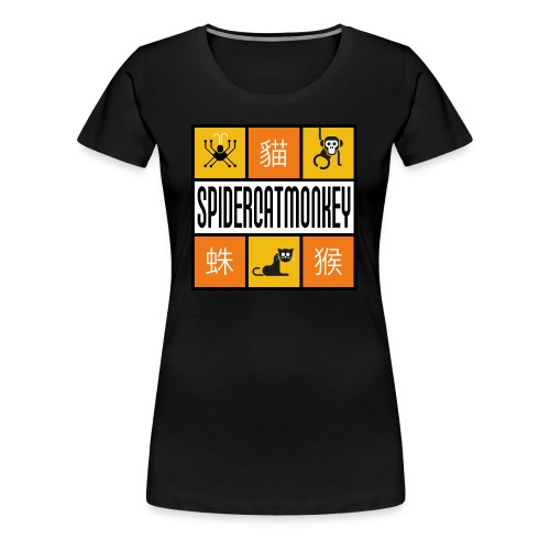 Band-Logo SPIDERCATMONKEY, orange - Frauen Premium T-Shirt