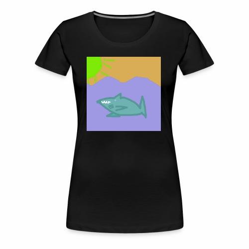 Haj i vatten - Premium-T-shirt dam