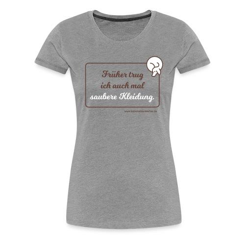 Saubere Kleidung zwei - Frauen Premium T-Shirt