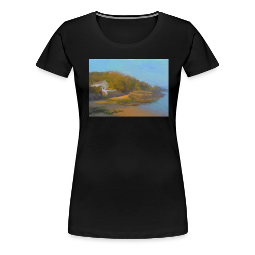 Cwm yr Eglwys beach Pembrokeshire - Women's Premium T-Shirt