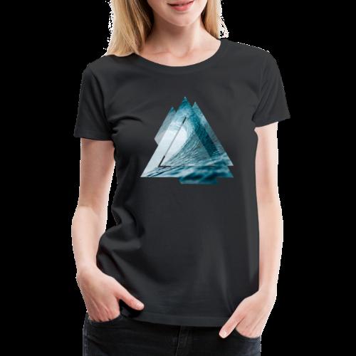Dreieck Surfer Welle - Frauen Premium T-Shirt