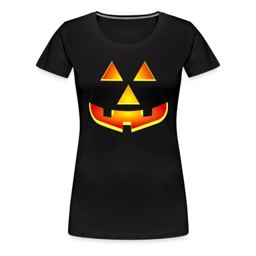 Smiling pumpkin - T Shirt, Halloween, Scary Face - Women's Premium T-Shirt