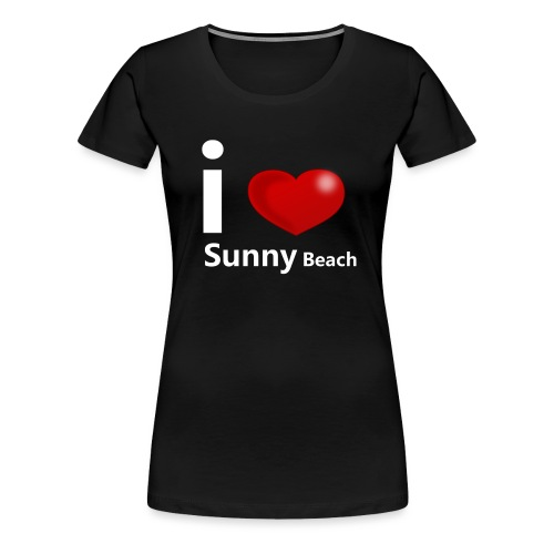 I love Sunny Beach 2 (white print) - Vrouwen Premium T-shirt