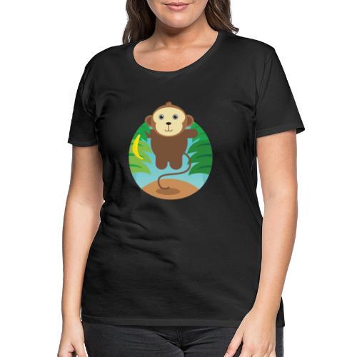 Banana Monkey - Frauen Premium T-Shirt