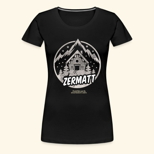 Zermatt Skigebiet Schweiz Design - Frauen Premium T-Shirt