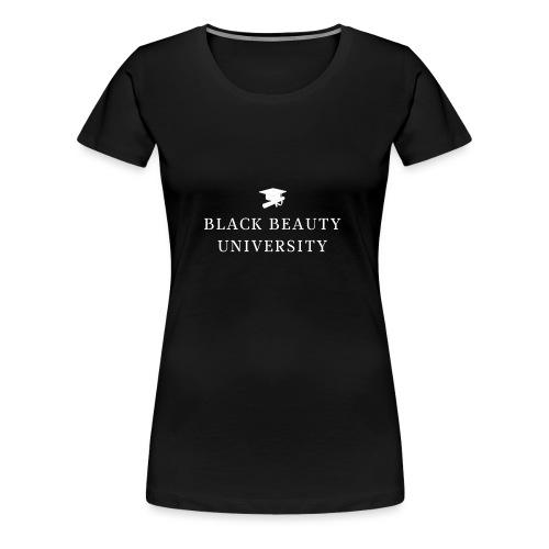BLACK BEAUTY UNIVERSITY LOGO BLANC - T-shirt Premium Femme