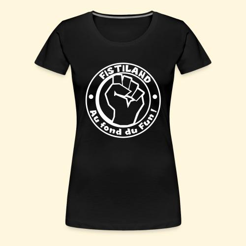 cercle FISTILAND blanc - T-shirt Premium Femme