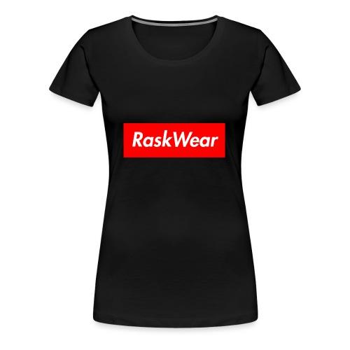 RaskWear Box Logo - Dame premium T-shirt