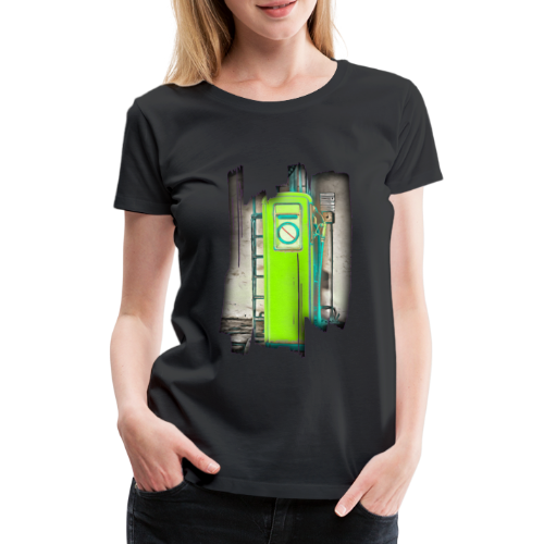 Vintage gas station - Women's Premium T-Shirt