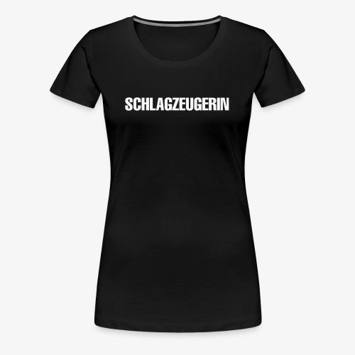 Schlagzeugerin - Frauen Premium T-Shirt