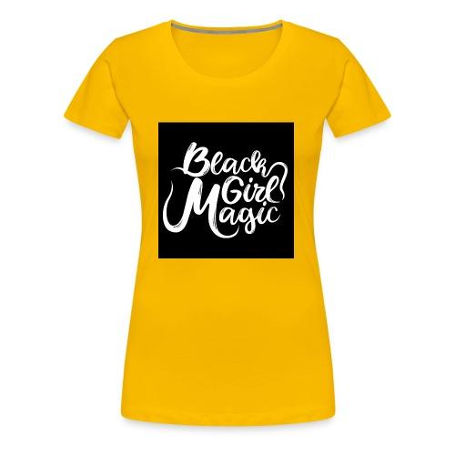 Black Girl Magic 1 White Text - Women's Premium T-Shirt