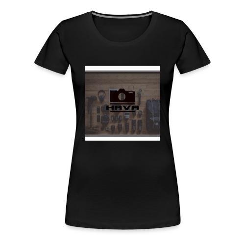 HAVA banner - Premium-T-shirt dam