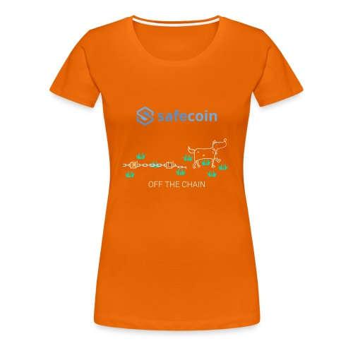 Dogey Chainfree White + blue - Women's Premium T-Shirt